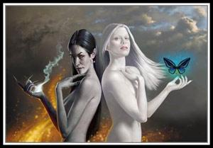 Колода таро белая и черная магия